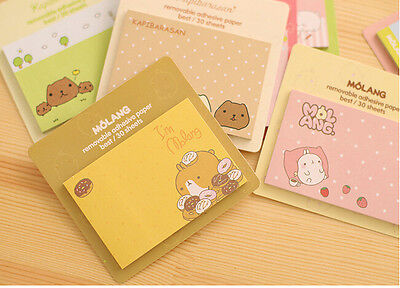 lovely rabbit Molang sticky note/ N time sticker US SELLER!Fast Free Shipping