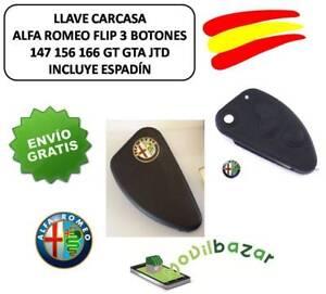 CHIAVE-CUSTODIA-COVER-ALFA-ROMEO-147-156-166-GT-GTA-JTD-FLIP-3-PULSANTI-SPAGNA