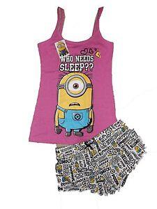 GüNstig Einkaufen Primark Minions Summer Pyjama Shorts Set Bnwt Uk 6/8 Free Uk Postage Damenmode Kleidung & Accessoires