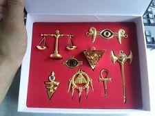 Yu-Gi-Oh! NECKLACE Millenium Puzzle Millennium Items KEYCHAIN GOLDEN 8PC SET