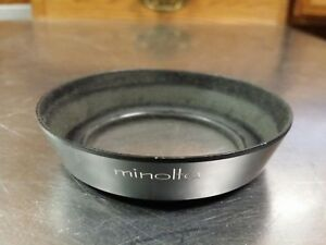 Minolta Genuine Screw In 55mm Metal Camera Lens Hood For MC 28mm f//3.5