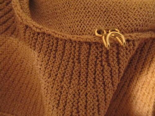 St John Santana S Biscuit Rayon Sweater Uld New Dame Tan Cardigan Knit dpHqdw1