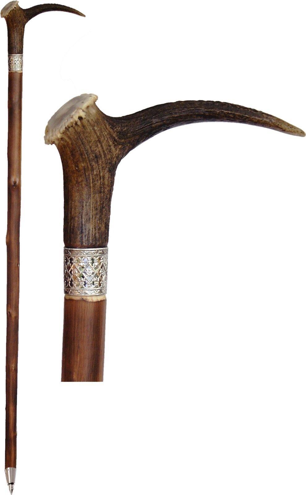Telescópicos con hirschhorn-augsprosse-mango bastón edelkastanie senderismo Outdoor