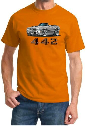 1970 1971 Olds 442 Cutlass Convertible Full Color Tshirt NEW FREE SHIPPING