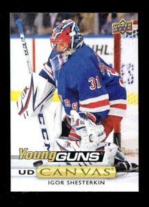 2019-20-Upper-Deck-Young-Guns-Canvas-Igor-Shesterkin-Rookie-New-York-Rangers