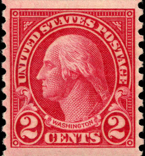 1923 2c George Washington, Coil Scott 599 Mint F/VF NH