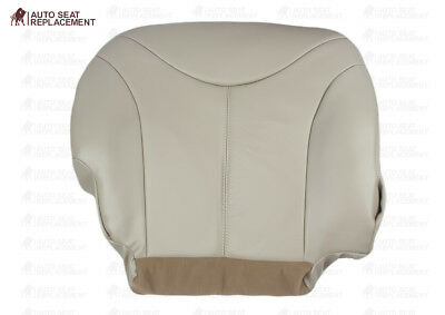 2000 2001 2002 GMC Yukon Driver Bottom Leather Replacement Seat Cover TAN