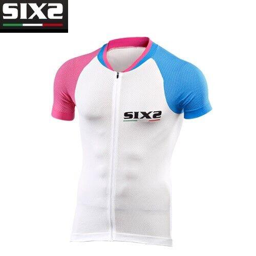 Jersey T-Shirts T-Shirts Jersey Jersey T-Shirt Fahrrad Fahrrad SIXS Rosa hellblau BIKE3 UL 28a651