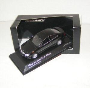 Mercedes-Benz-CLK-clase-W-209-2001-Black-metallic-Minichamps-1-43