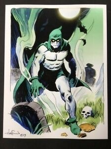 THE-SPECTRE-Haunting-Silver-Age-DC-Superhero-SIGNED-Print-by-Mike-Hoffman
