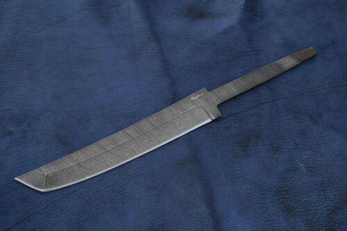 Nazarov Knives Damastklinge Rohling Damast Klinge Handarbeit Damaststahl HRC-62