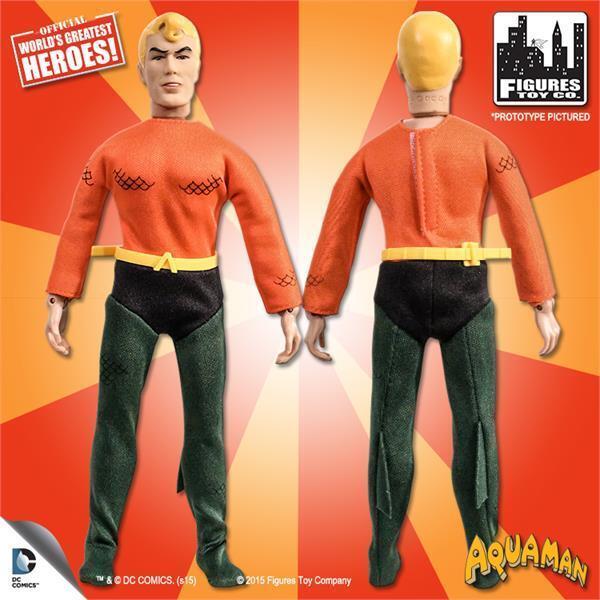 DC Super Friends series series series Retro Styled AQUAMAN 8  inch Figure CARTOON SERIES NEW 94d715