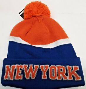 64d88f58a7b01a Image is loading New-York-Knicks-Adidas-NBA-Knit-Hats-cuffed-