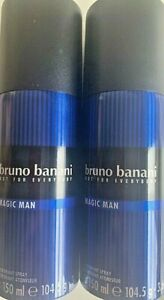 2x150ml-Bruno-Banani-Magic-MEN-Elegant-amp-Masculine-Deo-Deodorant-Spray