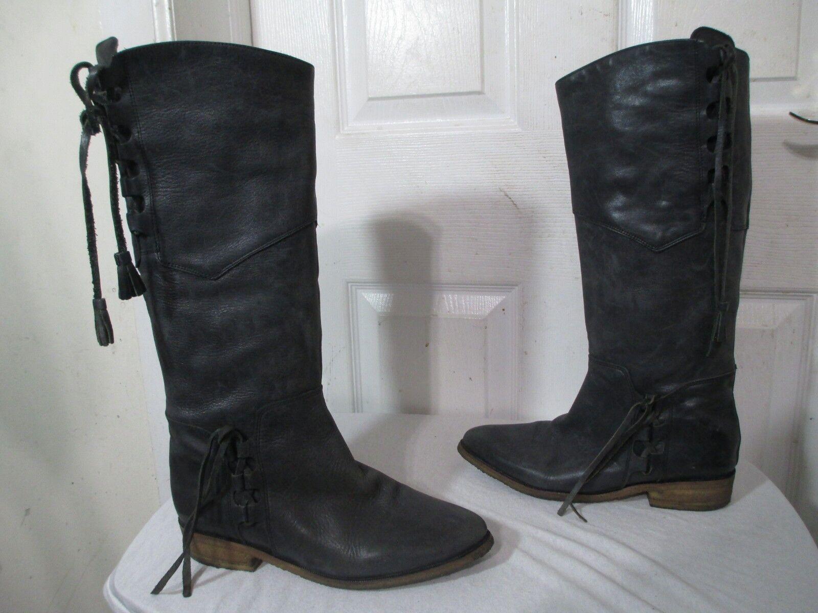 COQUETERRA DONNE _SNAVY Leather KNEE ALTO avvio  E 40 USA 9.5 E  buona qualità