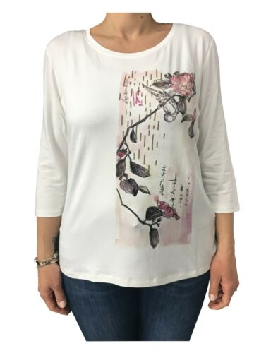 97 T Élasthanne Avec Ecru shirt 3 Applications Mirò Elena Viscose 6gxqaSwn