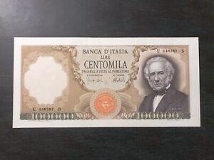 100000-LIRE-ALESSANDRO-MANZONI-qFDS-06-02-1974-Rare-Italy-Banknote-aUNC