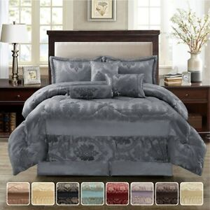 Heavy-Quilted-Bedspread-Bed-Throw-Comforter-Set-Pillows-amp-Cushions-Double-King