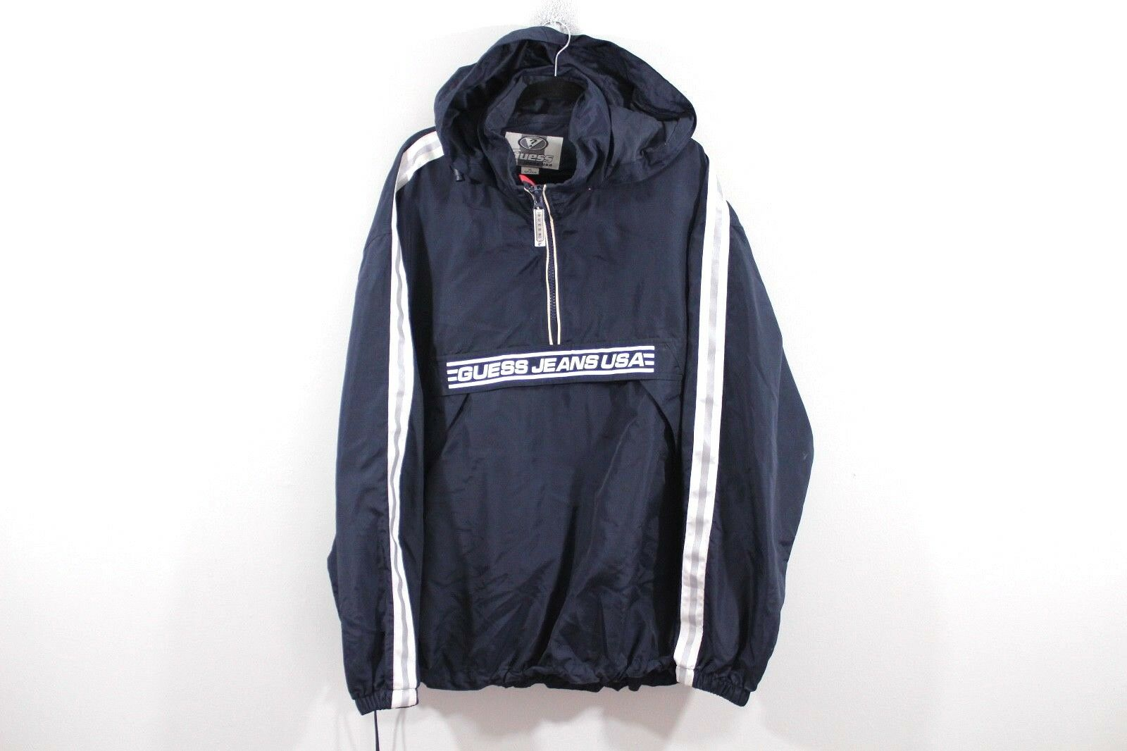 Vintage Années 90 Out Guess Hommes XL Sort Out 90 USA à Capuche Pull-Over Anorak Veste ace62f