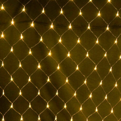 LED String Light Net Mesh Bulb Curtain Wedding Party Decor Outdoor Indoor Home