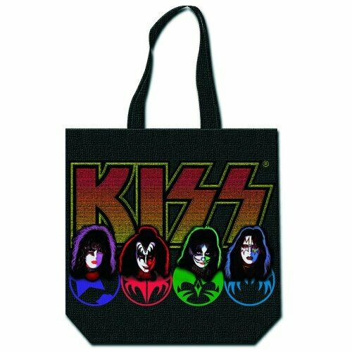with zip top Faces /& Logo KISS Cotton Tote Bag