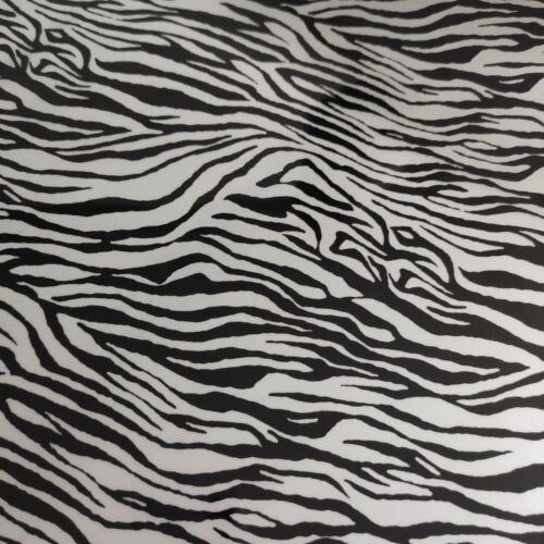 HTV Iron On Vinyl Pattern Silver Zebra Gold Leo Sheet 20x25cm Craft T-shirt Hot