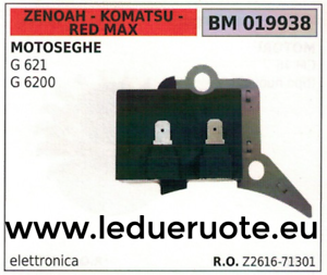 Details about Z261671301 COIL ELETTRONICA CHAINSAW ZENOAH KOMATSU RED MAX G  621 6200