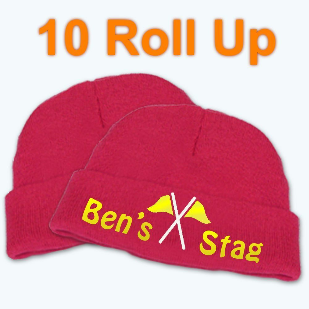 Best Impressions Roll Up Personalised Acrylic Beanie Various Colours Quantities
