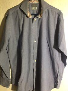 Thomas-Dean-Long-Sleeve-Button-Up-Flip-Cuff-Shirt-Mens-Size-L-Large