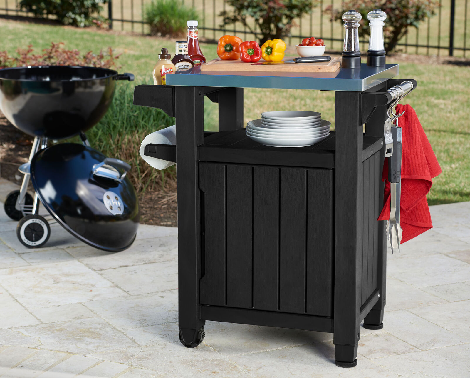 Keter Trolley Plastic Grill Cart Coffee Table Grill serviertisch