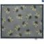 thumbnail 7 - Hug Rug Anti Viral Hygenic Bacteria Linen Light Grey Mushroom Daises Door Mat