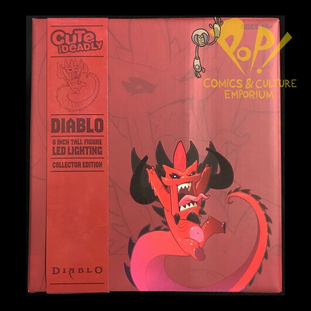 "Diablo DEMON Cute But Deadly COLOSSAL 8"" Vinyl Figure w Lights WOW"