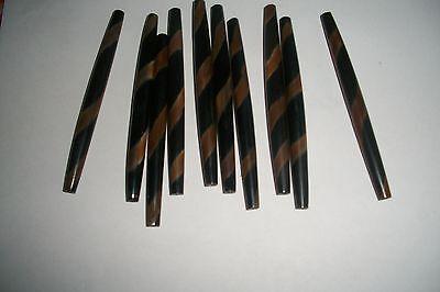 "100 mm HAIR PIPE 25 PC,BUFFALO HORN OVAL YELLOW 4/"" LONG"