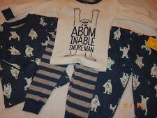 012c96ca41aa Carters Baby Boys 4-pc. Abominable Snore Man Pajama Set 18 Months ...