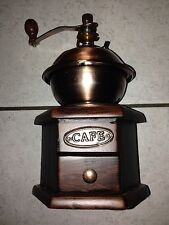 Nostalgie Hand Kaffemühle Mahagonifarben Kaffee Mühle Manuell Holz Espressomühle