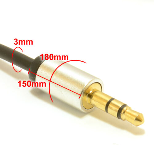 3.5mm Pro Jack to Jack Audio Cable For Headphone MP3 Smart Phones Music Car