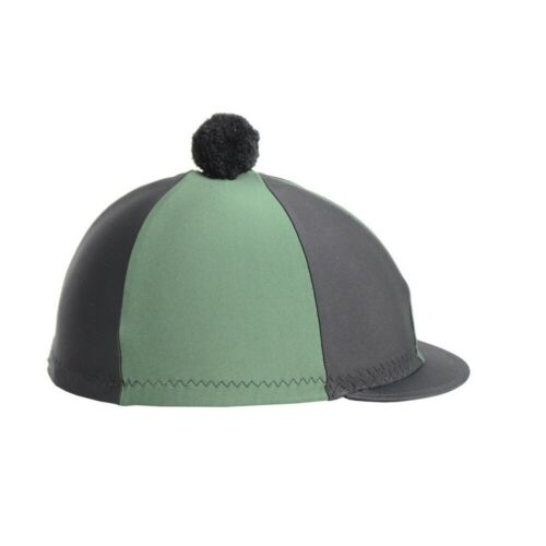 BZ507 Hy Two Tone Lycra Hat Silk With Bobble
