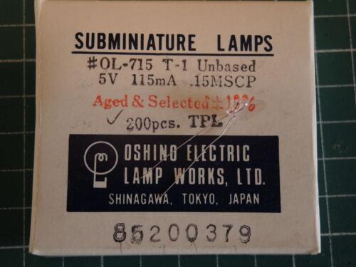 Miniature lamp 715 OL-715 OL715 T-1 5V a pack of 200