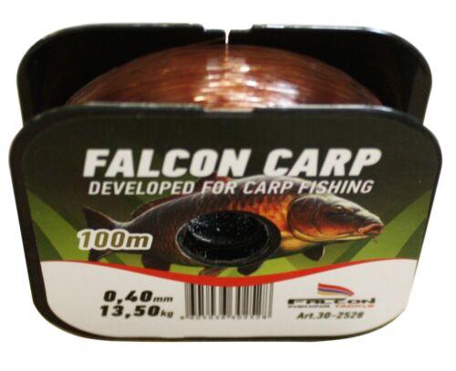 Fil de Pêche Monofilament Falcon Carp 100 m Corde Mono 0,34 €//10 M
