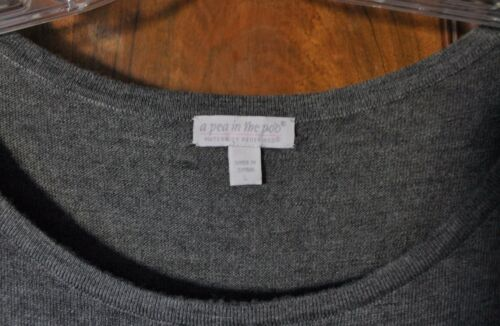 scuro color maglione lana maternità pisello a color verde con block di Un tunica grigio acqua grande zxvw1w