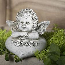 Engel Amor mit Herz 11-50039 Dekoration Resin Garten Terrasse Grab Figur