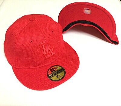 wholesale dealer great look exclusive range New Era MLB Los Angeles Dodgers 5950 Diamond All Red Fitted Hat ...