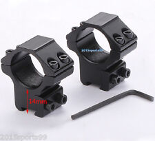 """Scope Rings 1"""" Diameter For 22 cal /Air Rifle Low Profile 3/8"""" Dovetail Mount #3"""
