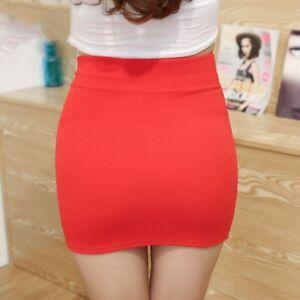 Women-039-s-Wrap-Sarong-Skirt-Office-Tulip-Elegant-Work-Bodycon-Stretch-Mini-Dress