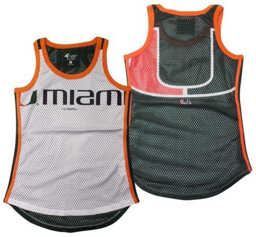 Miami Hurricanes Tank Top Women/'s Opening Day Mesh G-III White NCAA
