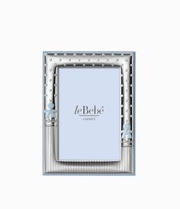 Cornice-piccola-maschio-argento-bilaminato-leBebe-LB206-9C-nuovo-garanzia