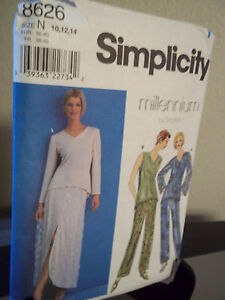 Simplicity-8626-Misses-Skirt-Pants-Tunic-Sewing-Pattern-Sizes-10-12-14-Uncut-FF