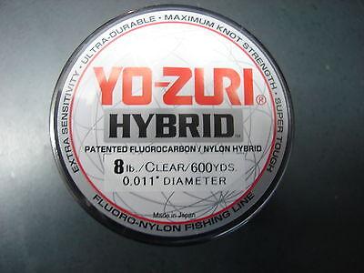 YO-ZURI HYBRID Fluorocarbon 10lb Line 2-600 Yard Rolls CLEAR NEW!