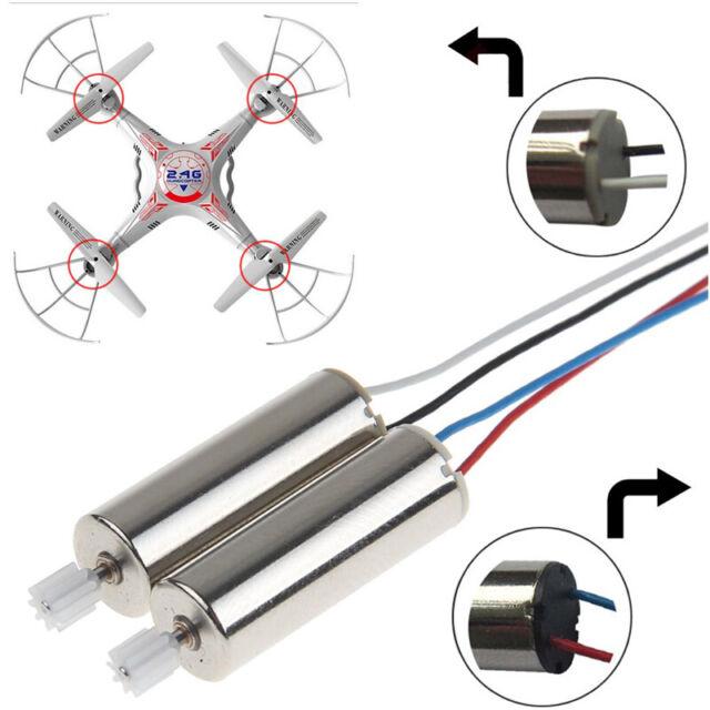 2x Pièces de rechange CW & CCW A B moteur moteur pour SYMA X5C X5 M68 RC Quadricoptère Drone
