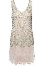 BABEYOND Womens Flapper Dresses 1920s V Neck Beaded Fringed Great Gatsby Dress